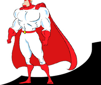 cartoon of super hero Commander Calm©
