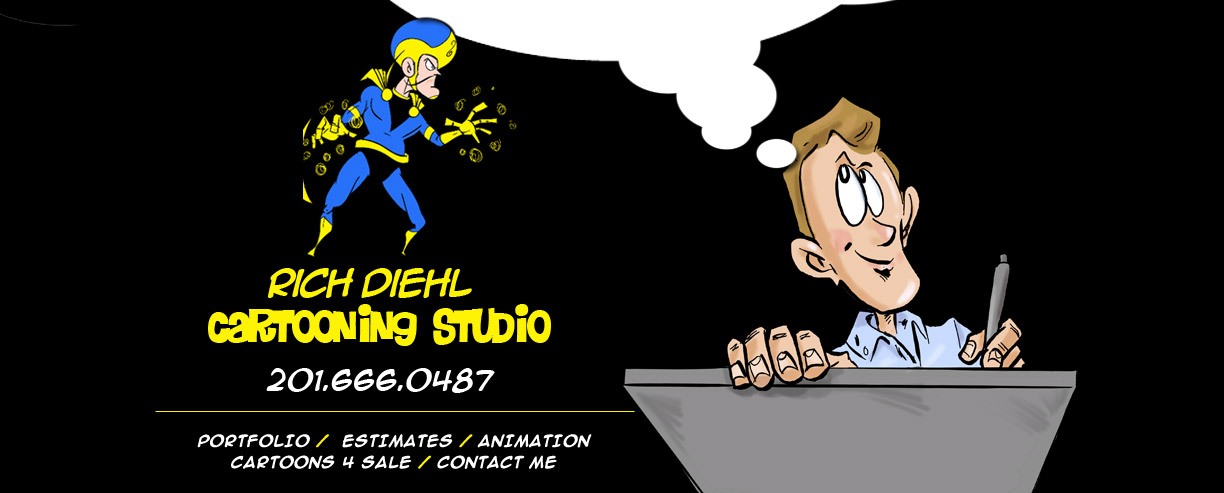 Rich Diehl Cartooning Studio 201-666-0487
